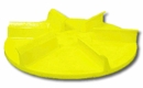 "Spinner, Yellow Polyurethane, 18"" dia, Straight, P/N 1308902"