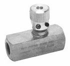 "Steel Flow Control Valve 1/4"", Buyers F400S"