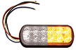 Strobe Light, 12 LED 1/2 Amber-1/2 Clear, 10-30VDC, Buyers 8891602