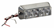 "Strobe Light, 4-LED, 4-7/8""   Rectangle, Amber, Buyers 8891004"