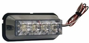 "Strobe Light, 4-LED Clear, 4-7/8"" Rectangler, Buyers 8891006"