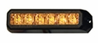 Strobe Light, 6 LED Amber, 10-24 VDC, Buyers 8891500