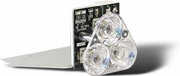 Work Light Alley 3 LED Clear, Buyers 3024642