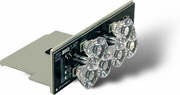 Work Light, Take Down, Middle, 6 LED, Clear, Buyers 3024639