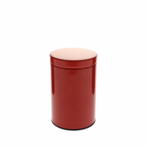 2 Different Size Gloss Red Tea Canisters, 100 or 200 Grams