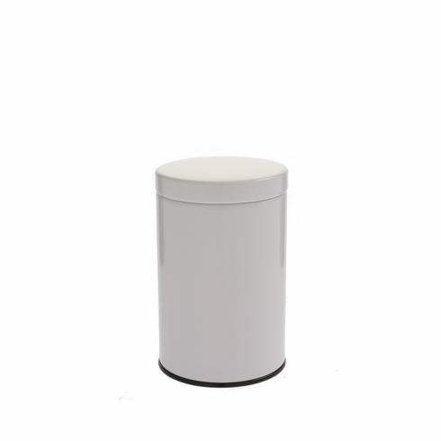 2 Different Size Gloss White Tea Canisters, 100 or 200 Grams