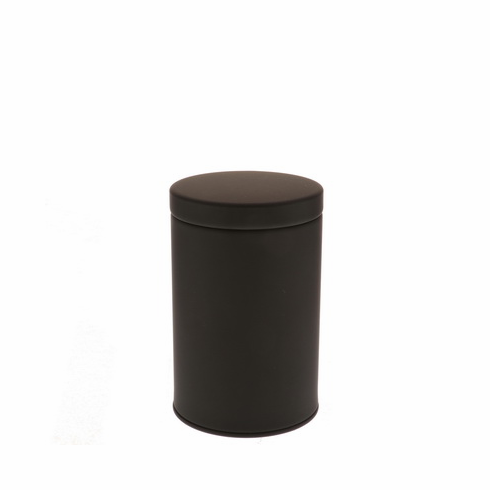 2 Different Size Matte Black Tea Canisters, 100 or 200 Grams