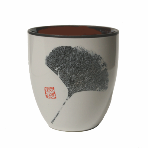 Ame Ichiyo Ginkyo White & Black Tea Cup, 10 oz.