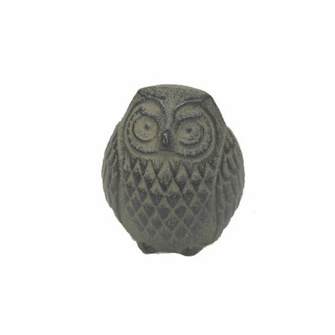 Antique Brown Color Owl Cast Iron <br>Paper Weight