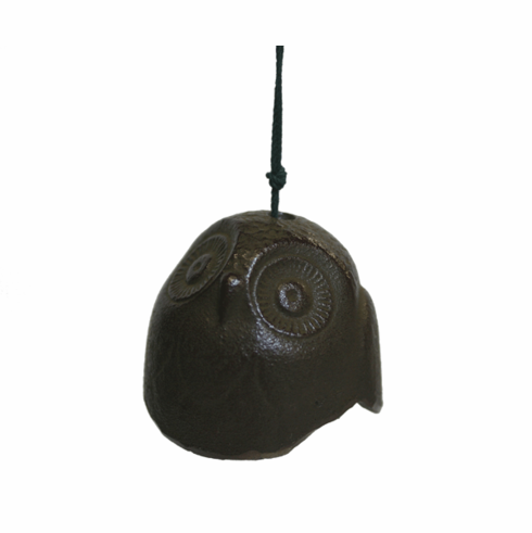 Antique Brown Color Owl Cast Iron Wind Chime
