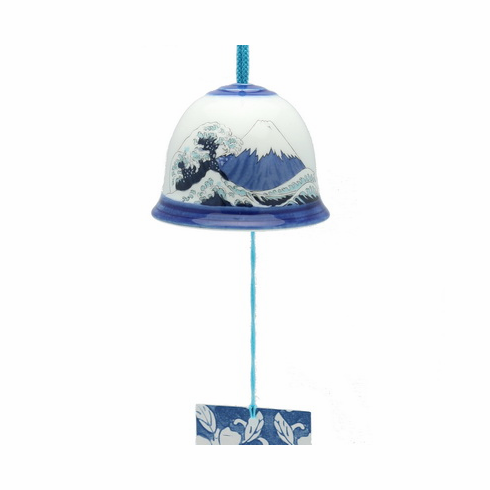 Arita Ceramic Bell Fiji-san Wave  <br>Wind Chime