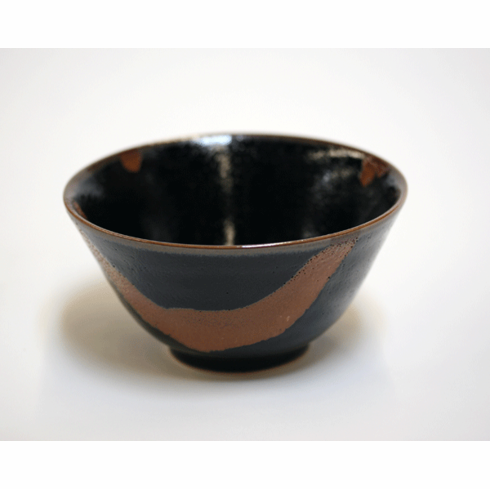 Black Citrus Rust Flow Bowl, 5-1/4""