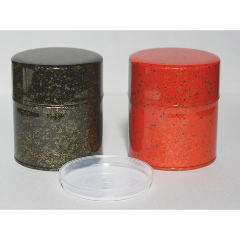 Black or Red Japanese Tea Canisters 150 Grams