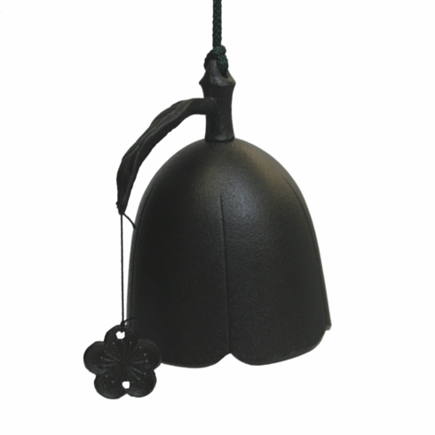 Black Plum Flower Cast Iron Windchime