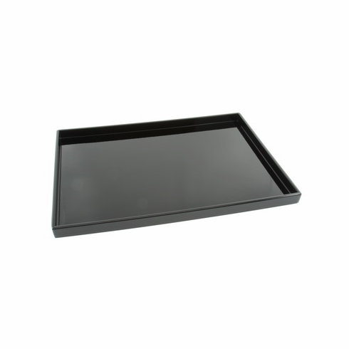"""Black Rectangular Plastic Lacquer ware Trays 14-1/8"""" x 10-1/4"""" or 15-1/8"""" x 11-1/4"""""""