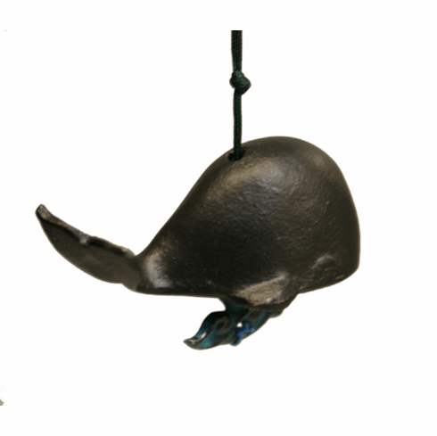 Black Whale Cast Iron Wind Chime