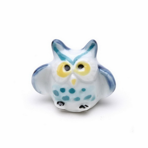 Blue and Yellow Owl Ceramic<br> Chopstick Rest