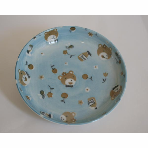 Blue Bear Ceramic Plate 6-1/2""