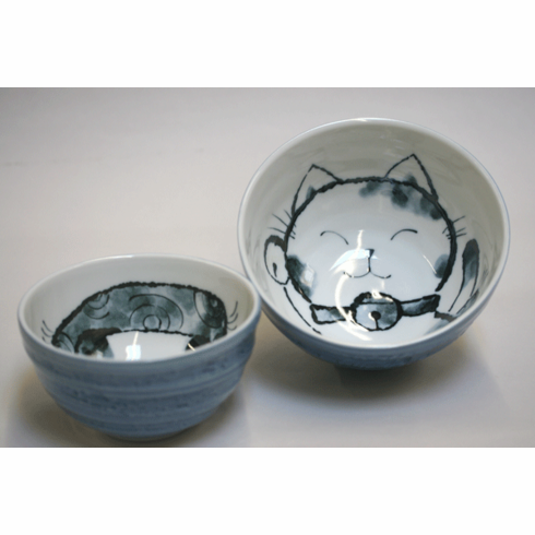"Blue Cat Bowls 5-1/4"" or 6-1/4"""