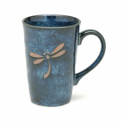 Blue Dragonfly Ceramic Mug, 11 oz.