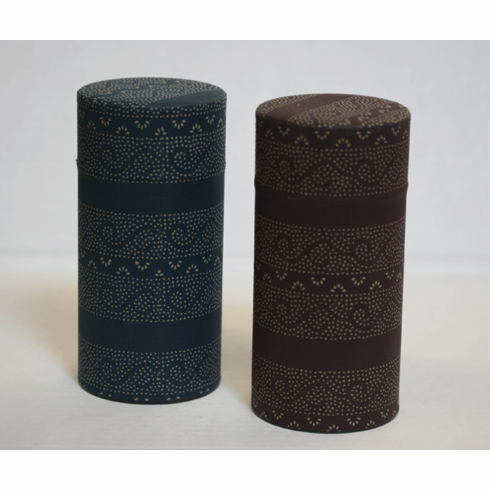 Blue or Brown Japanese Tea Canister,  200 Grams