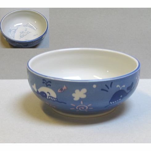 Blue Whale Ceramic Cereal/Soup Bowl