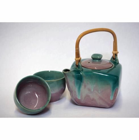 Blush Jade Ceramic Tea Set, 24 oz.