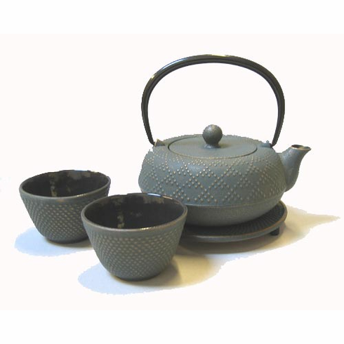 """Bronze Hobnail Cast Iron Teapot 16 oz. Set by Iwachu<font color=red><i>""""Temporarily Out of Stock""""</i></font>"""