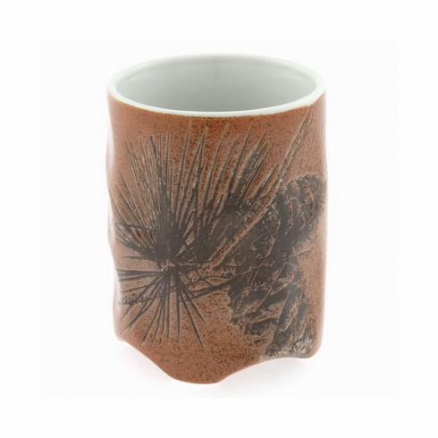 Brown Pine Cone Sushi Cup, 10 oz.