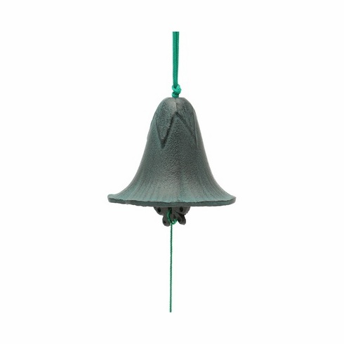 Cast Iron Black and Green Morning  <br>Glory Wind Chime