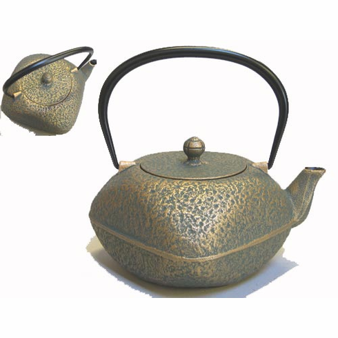 Cast Iron Square Teapot with Rounded Edges 32 oz.