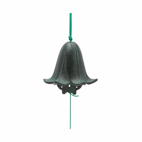 Cast Iron Wind Chime Black and Green Lily