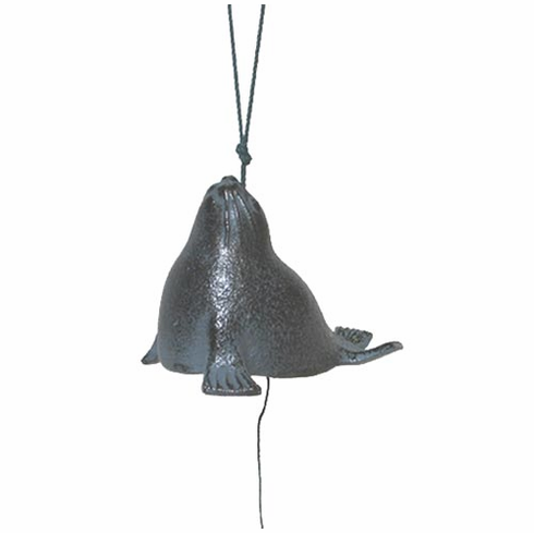 Cast Iron Wind Chime Black Sea Lion