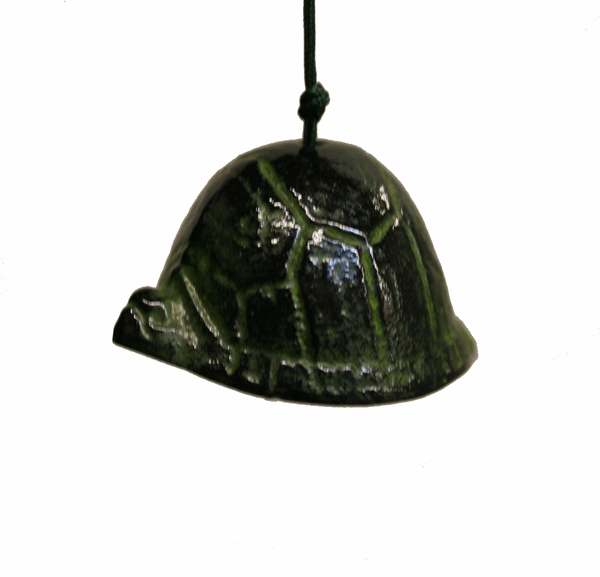 Cast Iron Wind Chime Green Turtle