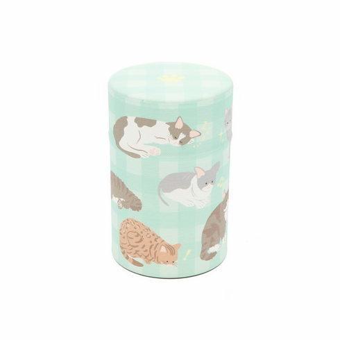 Cat Poses Tea Canister, <br> Holds 100 Grams
