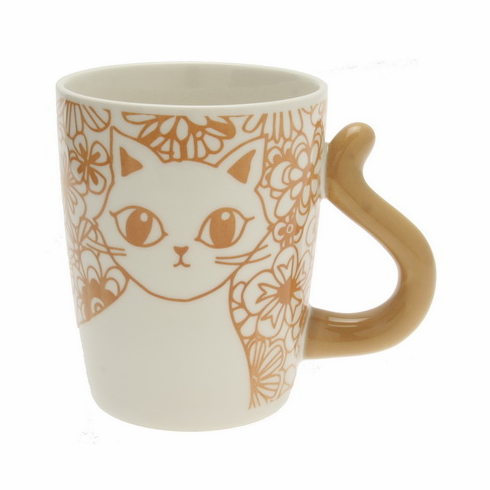 Cat's Tail Floral Au Lait Mug