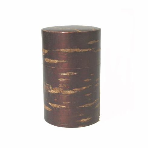 Cherry Wood Tea Canister Holds 90 Grams