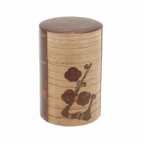 Cherrywood Plum Canister, Holds  <br>120 Grams