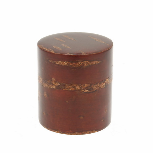 Cherrywood Tea Canister, Holds  <br>120 Grams