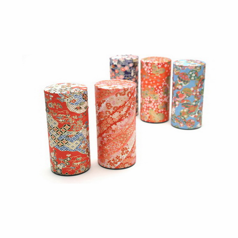 Chiyogami Tea Canisters, Each Holds 200 Grams