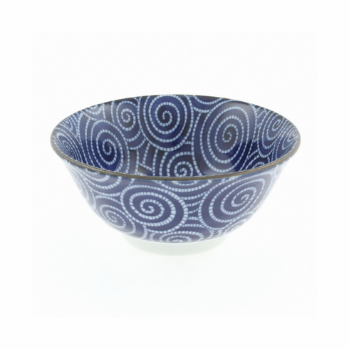 "Cobalt cloud swirls bowl 5-1/4"" or 6"""