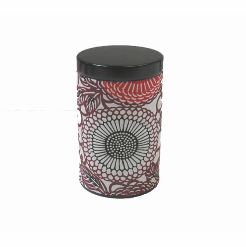 Crysanthamum Flower Pattern <br> Tea Canister, Holds 100 Grams