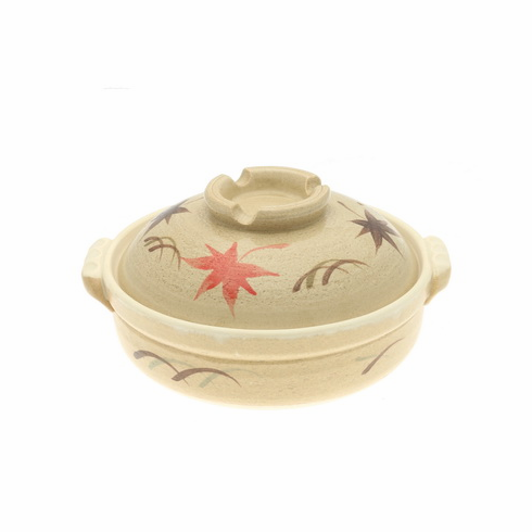 """Donabe/Japanese Hot Pot/Casserole<br> Autumn Maple 9-3/4"""" & 10-3/4""""<br> Made in Japan"""