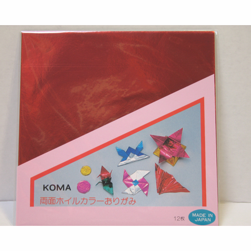 "Double Sided Foil Origami Paper 10 "" Sq."
