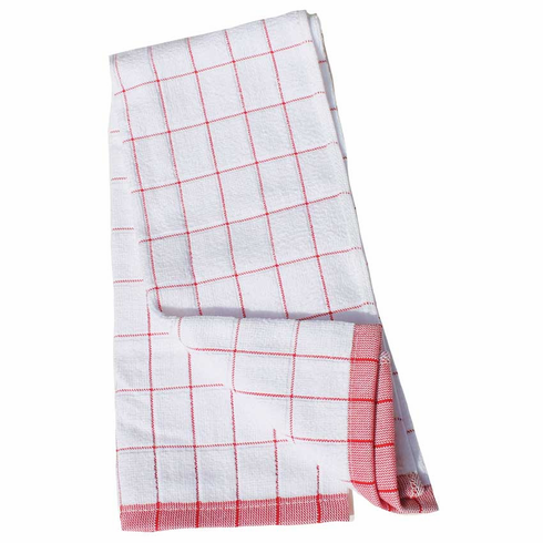 e-cloth Classic Check Kitchen <br> Towel - Red