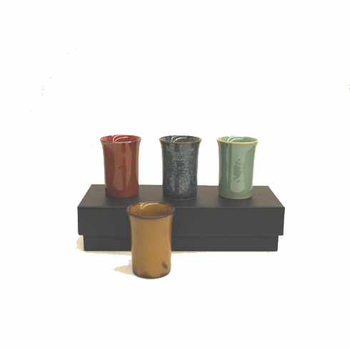 Earth, Fire and Water Sake Cup Set