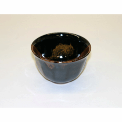 Ebony & Brown Tea Cup 6 oz.