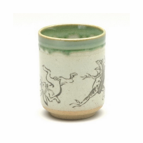 Frolicking Frog and Rabbit <br>Tea Cup 8 oz.