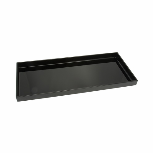 "Glossy Finish Rectangular Plastic Lacquer ware Tray, 14-1/4 "" x 6-1/2"" or 16-5/8"" x 7-3/4"""