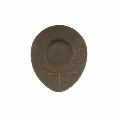 Gold & Brown Dragonfly Cast Iron Coaster